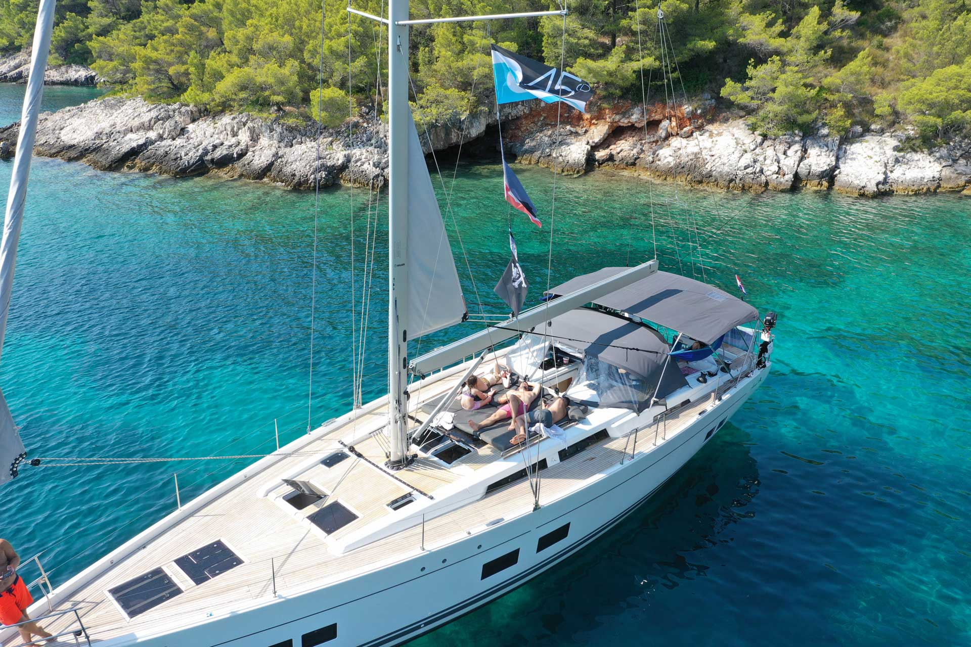 digital nomad sailing Croatia